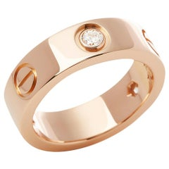 Cartier Love 18 Karat Rose Gold Diamond Ring
