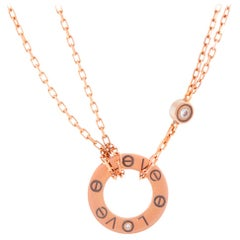 Cartier LOVE 18 Karat Rose Gold Necklace