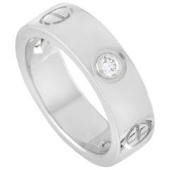Cartier Love 18 Karat White Gold 3 Diamond Band Ring