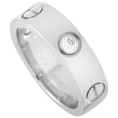 Cartier LOVE 18 Karat White Gold 3 Diamond Ring