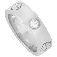 Cartier LOVE 18 Karat White Gold 3 Diamond Ring