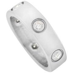 Cartier Love 18 Karat White Gold 6 Diamond Band Ring