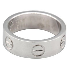Cartier Love 18 Karat White Gold Band Ring