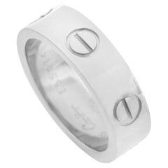 Cartier LOVE 18 Karat White Gold Band Ring