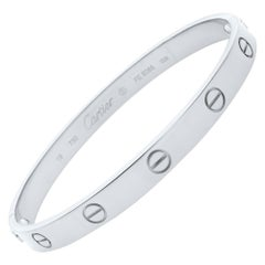 Cartier Love 18 Karat White Gold Bracelet