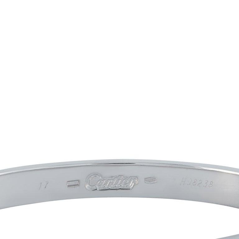 Cartier Love 18 Karat White Gold Bracelet with Screwdriver 1