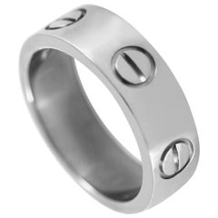 Cartier Love 18 Karat White Gold Ring
