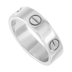 Cartier Love 18 Karat White Gold Ring