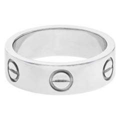 Cartier Love 18 Karat White Gold Unisex Band Ring