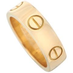 Cartier LOVE 18 Karat Yellow Gold Band Ring