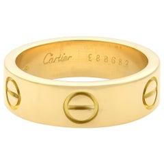 Cartier Love 18 Karat Yellow Gold Ring
