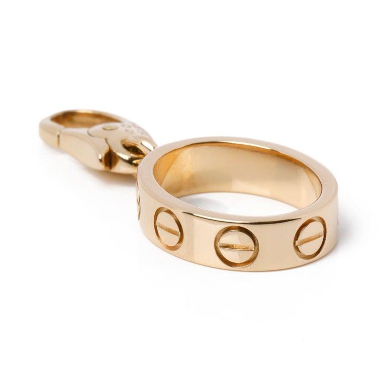 Contemporary Cartier Love 18ct Gold Charm Pendant