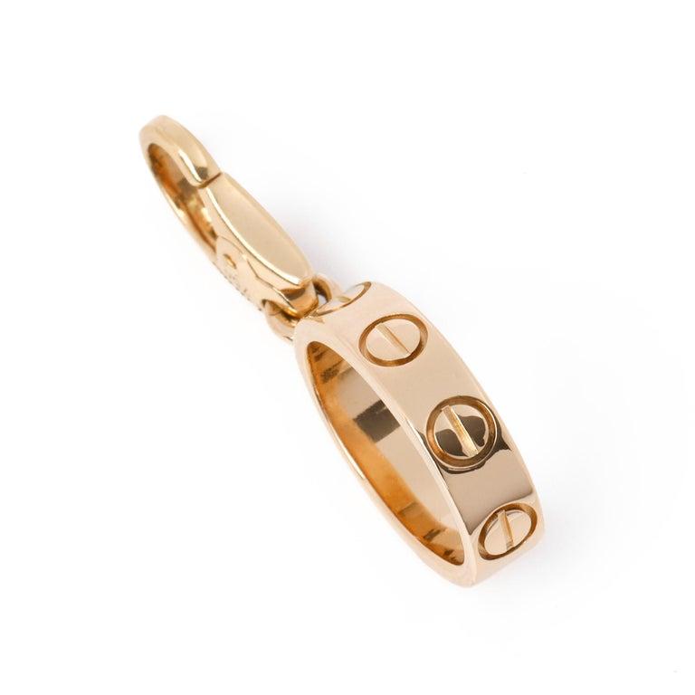 Cartier Love 18ct Gold Charm Pendant In Excellent Condition In Bishop's Stortford, Hertfordshire