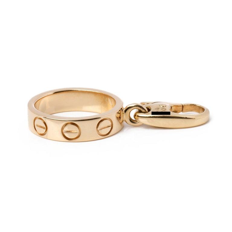 Cartier Love 18ct Gold Charm Pendant 3