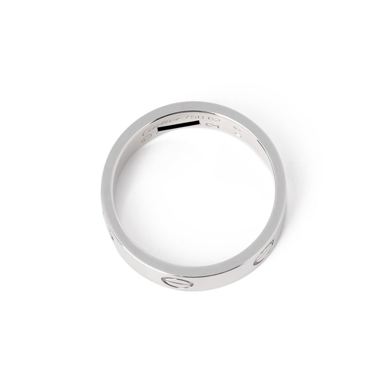 Contemporary Cartier Love 18ct White Gold Band Ring
