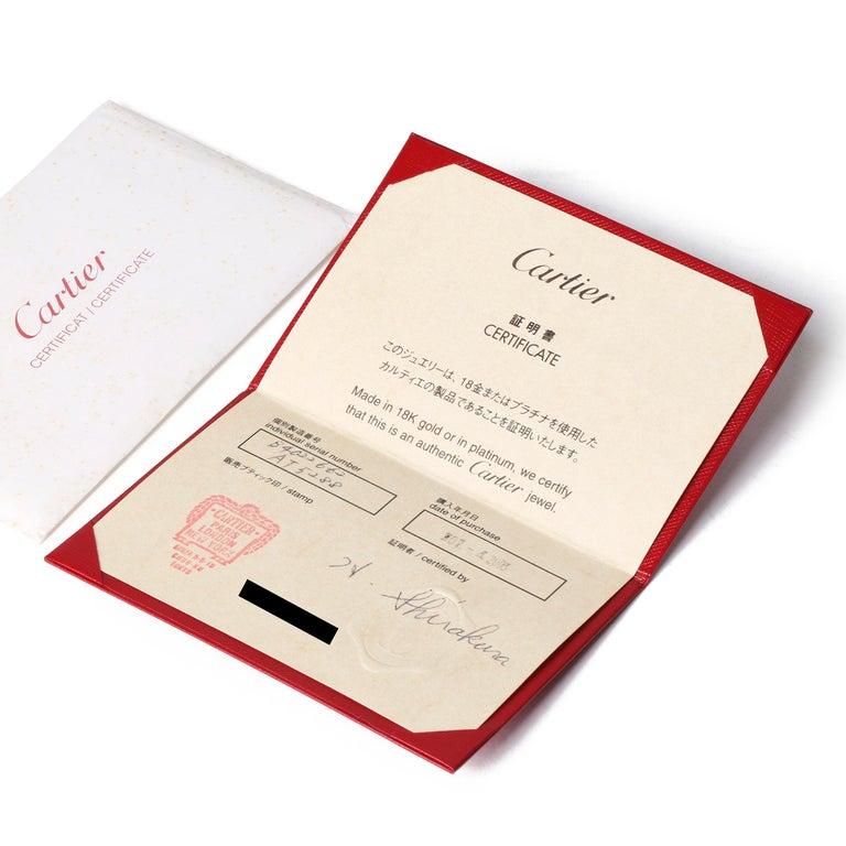 Cartier Love 18ct White Gold Band Ring In Excellent Condition In Bishop's Stortford, Hertfordshire