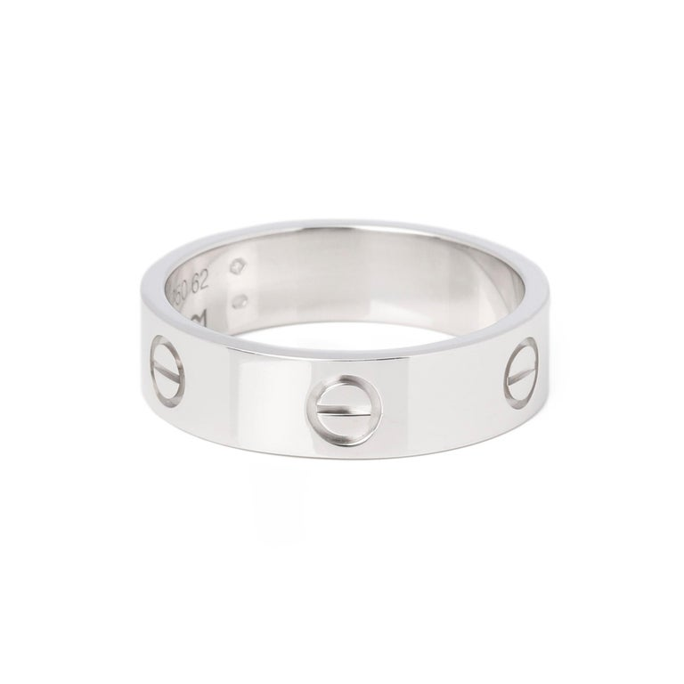 Cartier Love 18ct White Gold Band Ring 1