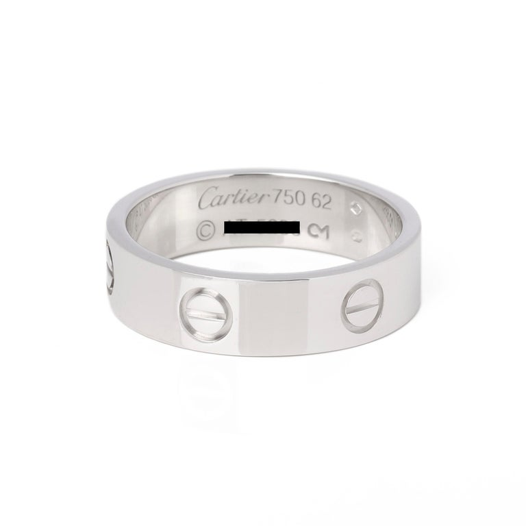 Cartier Love 18ct White Gold Band Ring 2