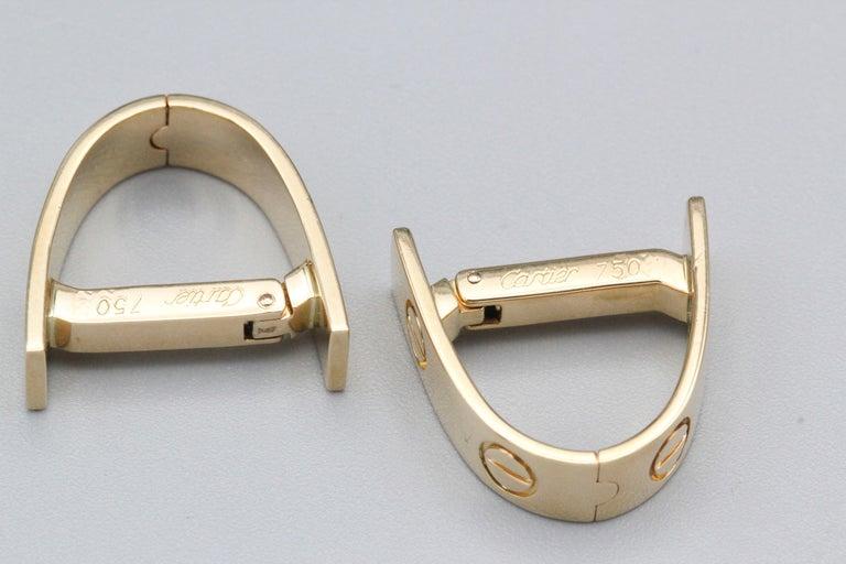 Men's Cartier Love 18k Gold Cufflinks For Sale