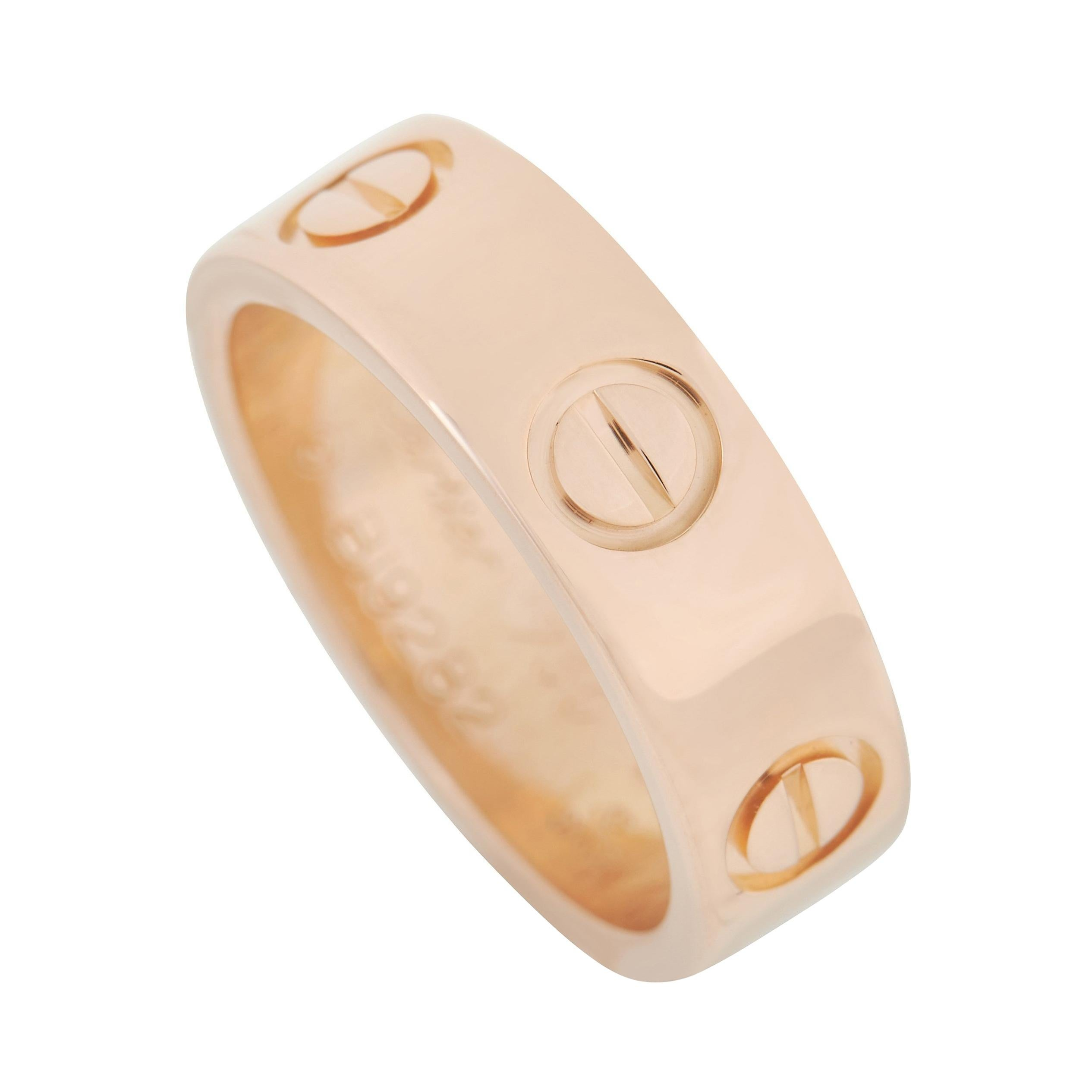 Cartier LOVE 18K Rose Gold Band Ring