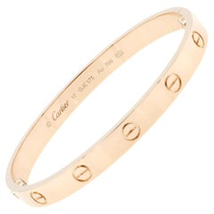 Cartier Love 18 Karat Rose Gold Bangle Bracelet