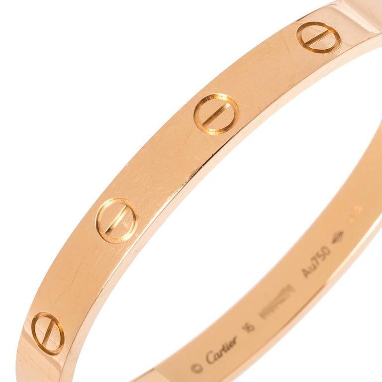 Women's Cartier LOVE 18K Rose Gold Bracelet 16