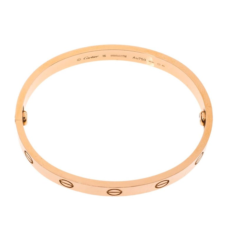 Cartier LOVE 18K Rose Gold Bracelet 16 1