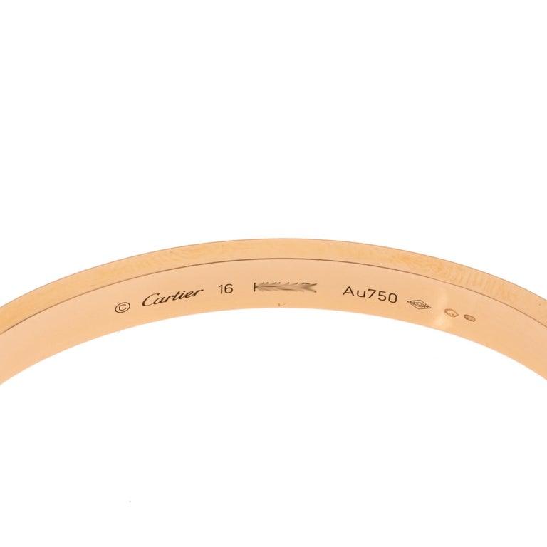Cartier LOVE 18K Rose Gold Bracelet 16 2