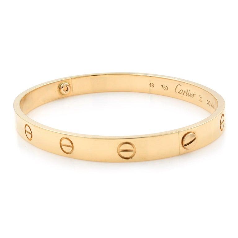 Modern Cartier Love 18 Karat Rose Gold Bracelet For Sale