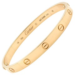 Cartier Love 18 Karat Rose Gold Bracelet