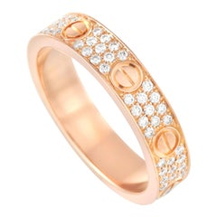Cartier LOVE 18K Rose Gold Diamond Ring