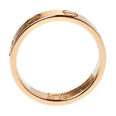 Cartier Love 18K Rose Gold Wedding Band Ring Size 47