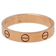 Cartier Love 18K Rose Gold Wedding Band Ring Size 53