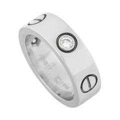 Cartier LOVE 18k White Gold 3-Diamond Ring