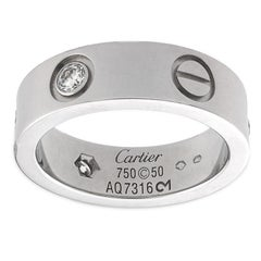 Cartier Love 18K White Gold and Diamonds Ring