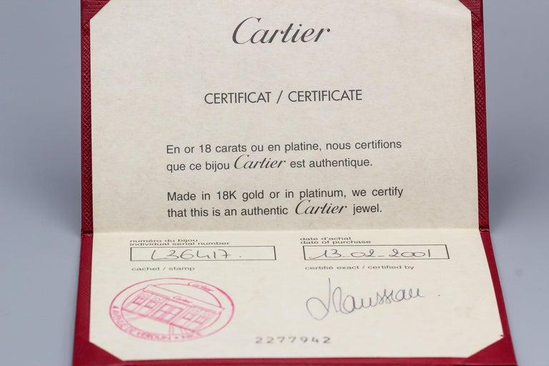 Women's Cartier Love 18 Karat White Gold Band Ring For Sale