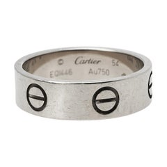 Cartier Love 18K White Gold Band Ring Size 54