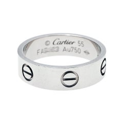 Cartier Love 18K White Gold Ring Size 55