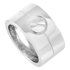 Cartier LOVE 18k White Gold Wide Band Ring