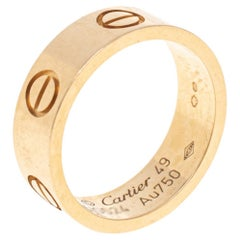 Cartier Love 18K Yellow Gold Band Ring Size 49