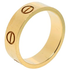 Cartier Love 18K Yellow Gold Band Ring Size 54
