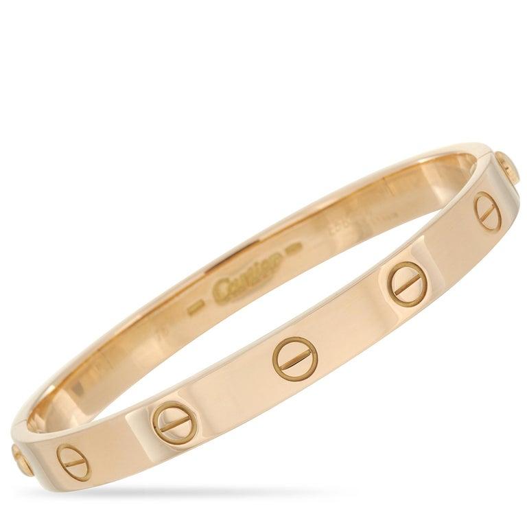 Women's Cartier Love 18k Yellow Gold Bracelet with Screwdriver