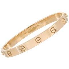 Cartier LOVE 18K Yellow Gold Bracelet with Screwdriver