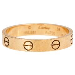 Cartier Love 18K Yellow Gold Narrow Wedding Band 58