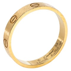 Cartier Love 18K Yellow Gold Wedding Band Ring 59