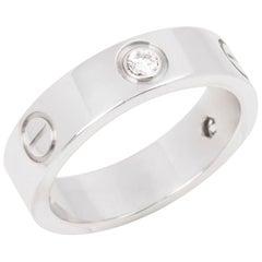 Cartier Love 3 Diamond 18 Carat White Gold Ring
