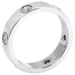 Cartier Love 6 Diamond 18K White Gold Ring Size 60