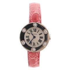 Cartier Love 6 Diamond Quartz Watch White Gold and Alligator
