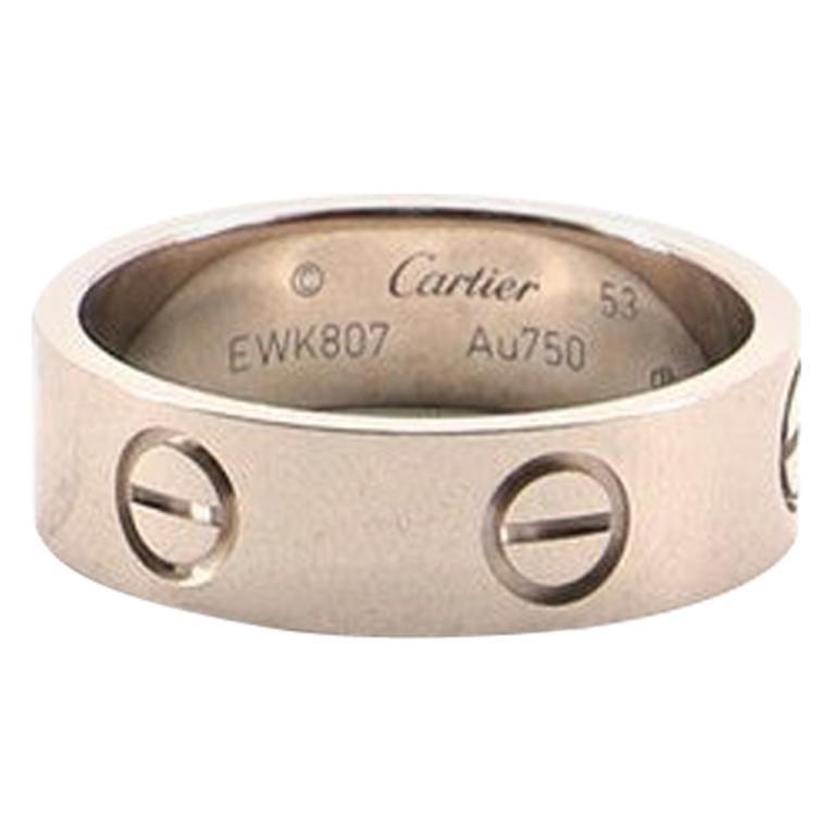 Cartier Love Band Ring 18 Karat White Gold