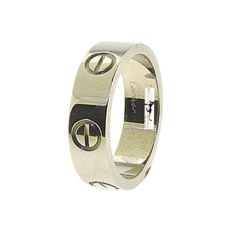 Cartier Love Band Ring 18 Karat White Gold, Ring